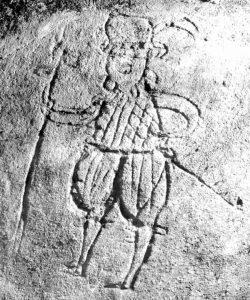 Kratzputzfigur aus dem Riehlshof (Herlheim, Gemeinde Kolitzheim)