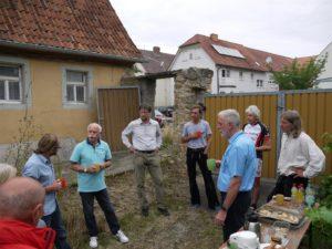 Vorbesprechung am Riehlshof mit den Organisatoren der Jugendbauhütte 2019